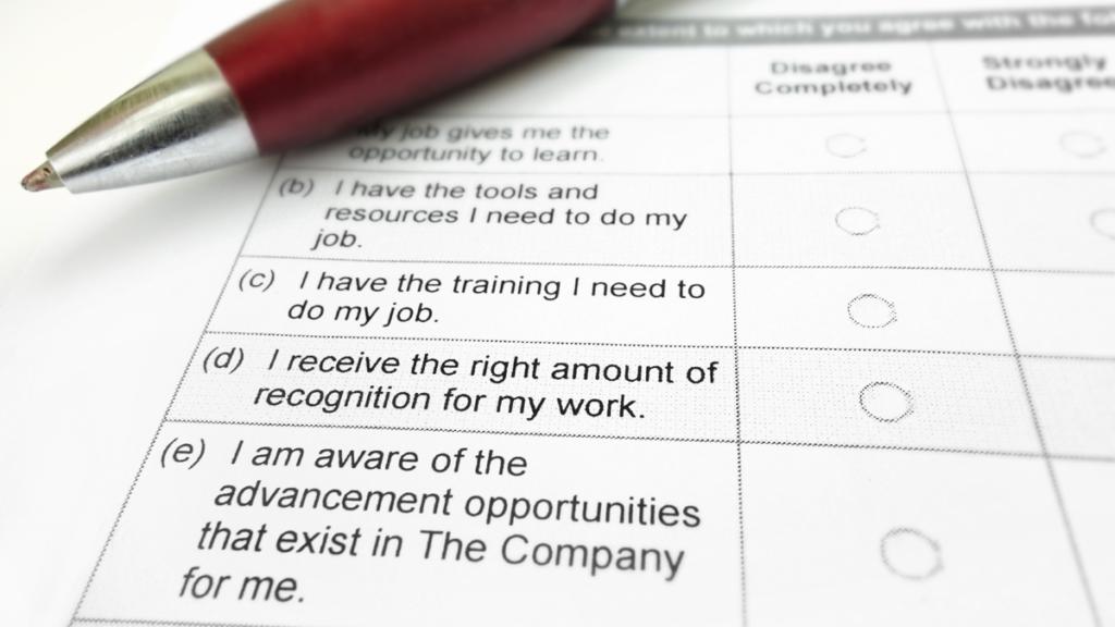 Employee survey sized