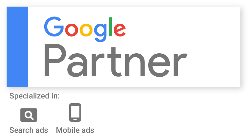 Google Partner specialized in Search Ads and Mobile Ads